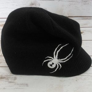 SOLD- Spyder Black Bennie Cap One Size Fits All